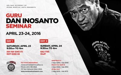 Dan Inosanto Seminar — Montreal