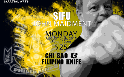 Chi Sao and Filipino Knife with Sifu John Maidment